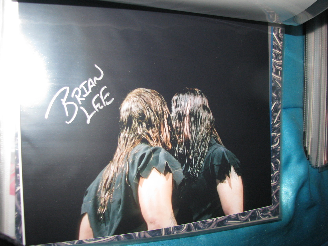 brian lee my wrestling autograph collection